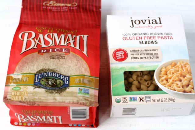 lundberg rice and jovial pasta