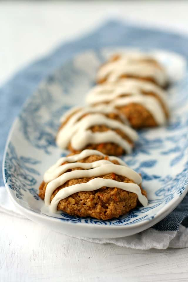 gluten free carrot cake cookies