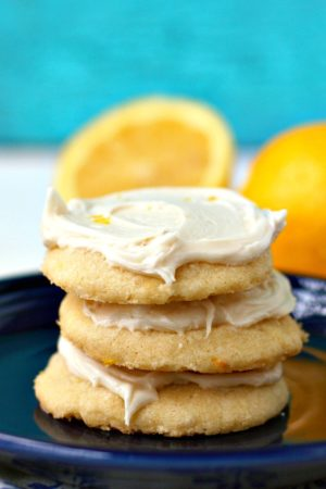 gluten free lemon shortbread cookies