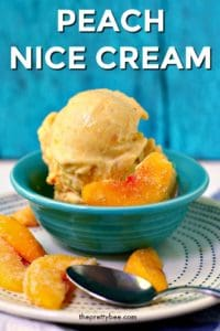 nice cream with peaches