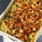 dairy free cheesy broccoli casserole