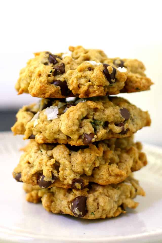 stack of gluten free zucchini cookies