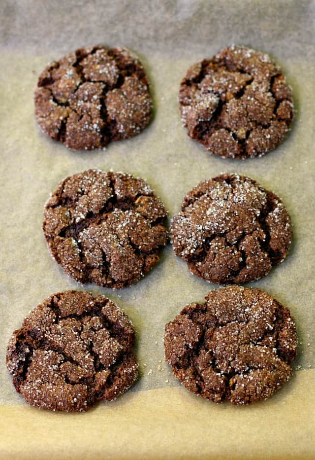 chocolate sunbutter crinkles on a cookie sheet