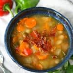 slow cooker bean vegetable soup with bacon