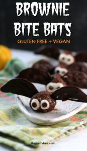halloween bats made of brownie bites