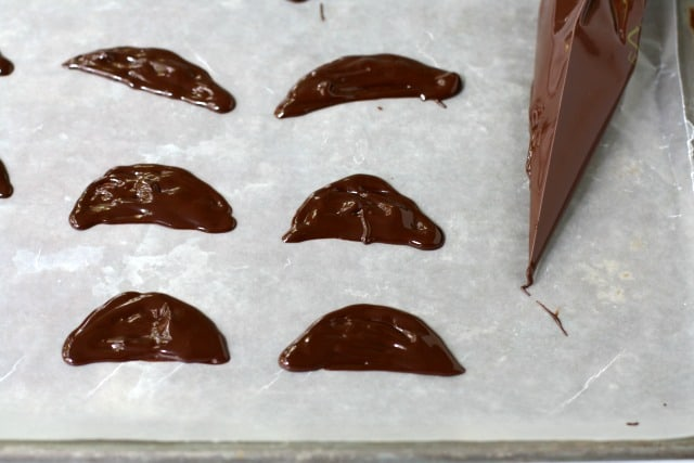 making bat wings out of chocolate