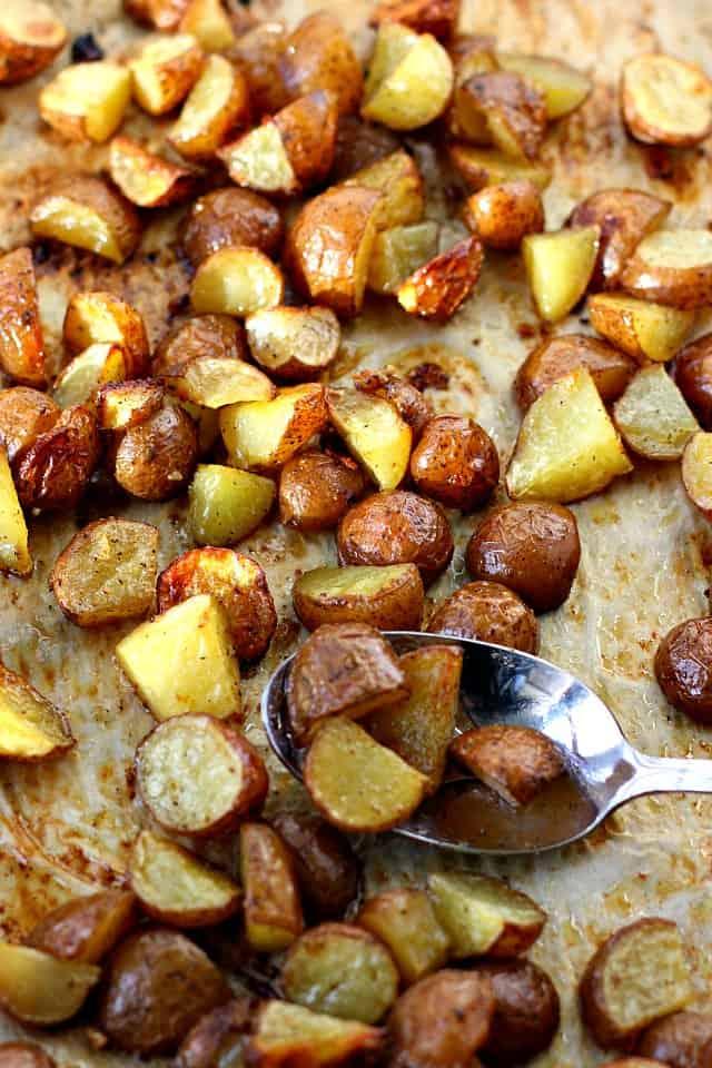 easy lemon roasted potatoes