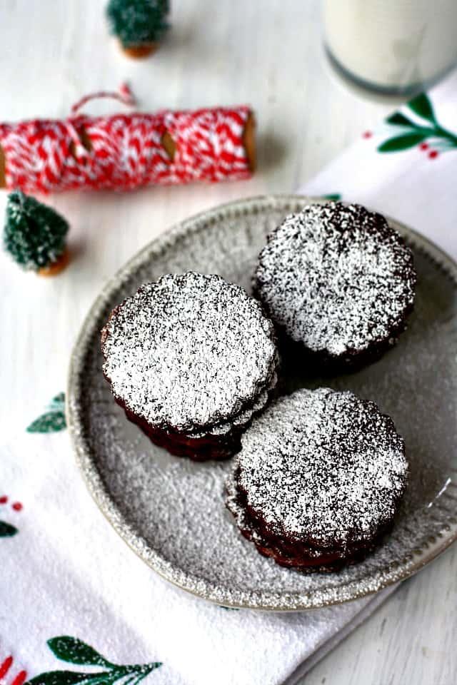 chocolate cookies on plate