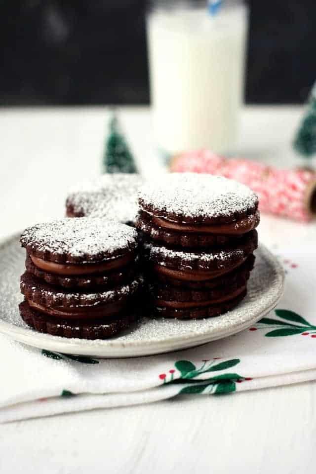 gluten free double chocolate sandwich cookies