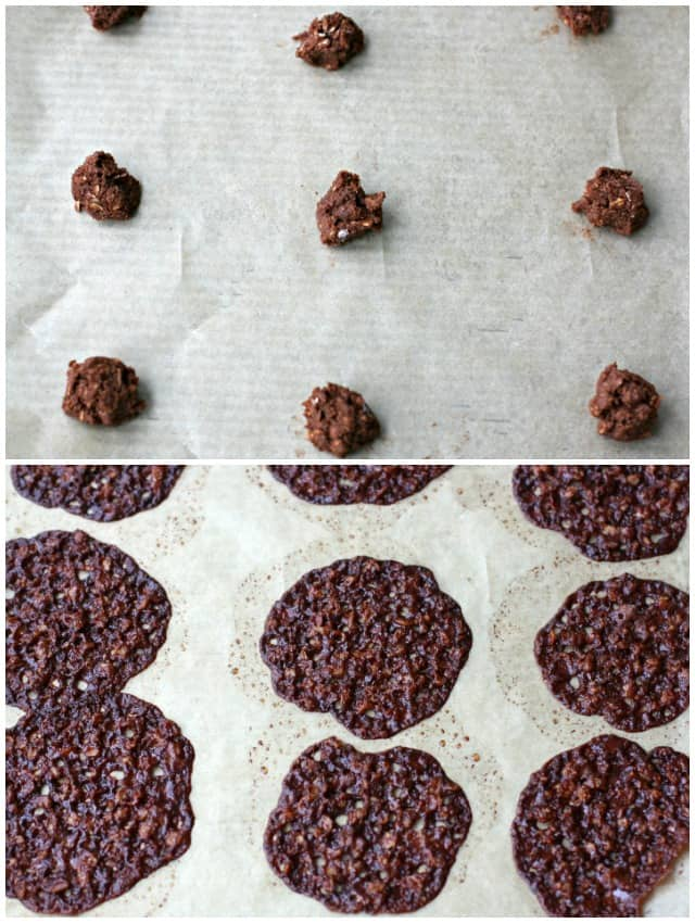 how to bake chocolate lace cookies