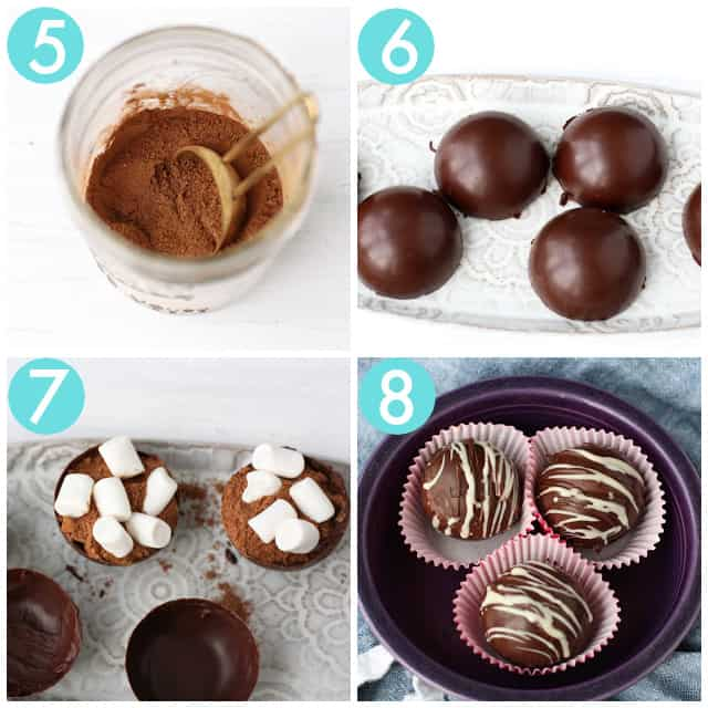 how to assemble vegan hot chocolate bombs