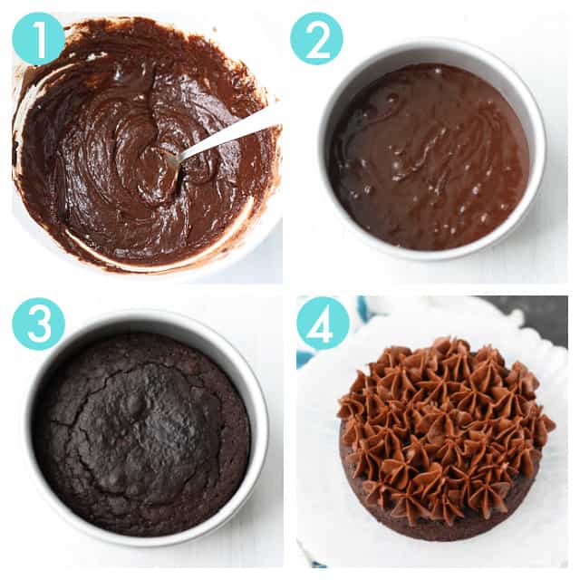 how to make a small chocolate cake step by step