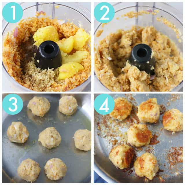 how to make vegan meatballs step by step