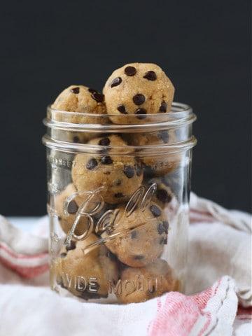 dairy free chocolate chip cookie dough bites
