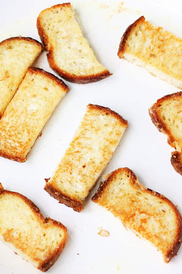 french toast frying in pan