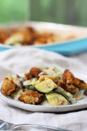 plate of zucchini casserole