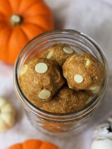 gluten free pumpkin cookie dough bites