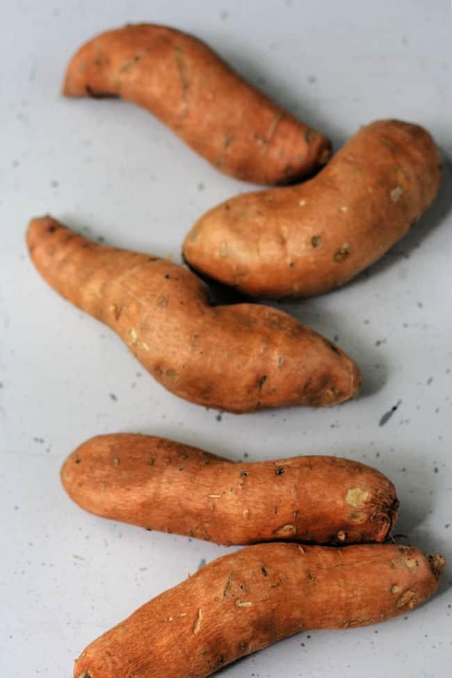 whole sweet potatoes